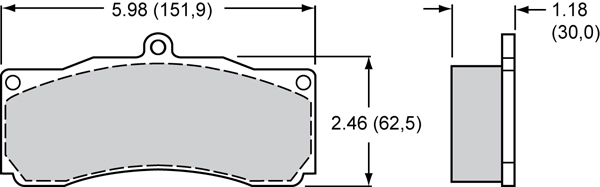 Wilwood Brake Pad Plate #8830 Large Drawing