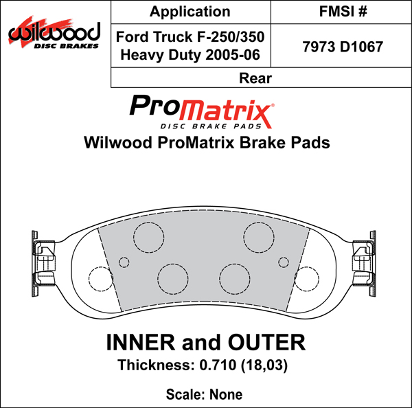 Wilwood Brake Pad Plate #D1067