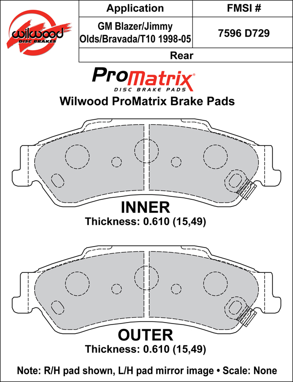 Wilwood Brake Pad Plate #D729