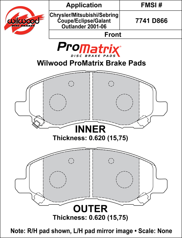 Wilwood Brake Pad Plate #D866
