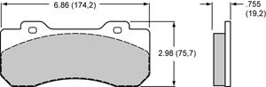 Wilwood Brake Pad Plate #10120