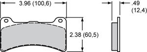 Wilwood Brake Pad Plate #4812