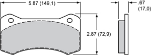 Wilwood Brake Pad Plate #6617