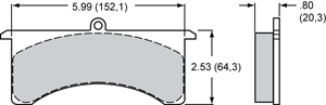 Wilwood Brake Pad Plate #7520