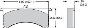 Wilwood Brake Pad Plate #7525