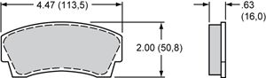 Wilwood Brake Pad Plate #8716