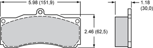 Wilwood Brake Pad Plate #8830