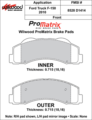 Wilwood Brake Pad Plate #D1414