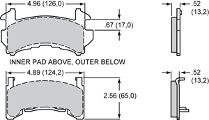 Wilwood Brake Pad Plate #D154