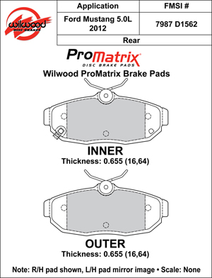 Wilwood Brake Pad Plate #D1562
