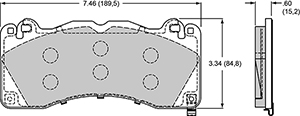 Wilwood Brake Pad Plate #D1792