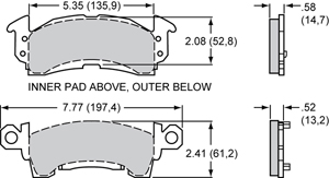 Wilwood Brake Pad Plate #D52
