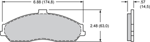 Wilwood Brake Pad Plate #D731