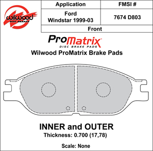 Wilwood Brake Pad Plate #D803