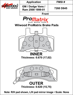 Wilwood Brake Pad Plate #D845