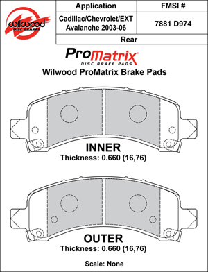 Wilwood Brake Pad Plate #D974