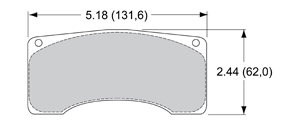 View Brake Pads with Plate #92XX