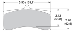 View Brake Pads with Plate #97XX