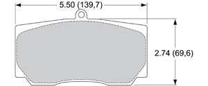 View Brake Pads with Plate #98XX