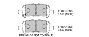 View Brake Pads with Plate #D999