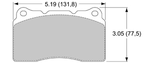 View Brake Pads with Plate #D1001