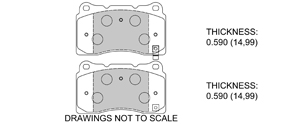 View Brake Pads with Plate #D1050