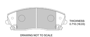 View Brake Pads with Plate #D1056