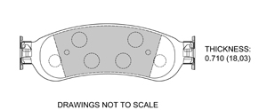 View Brake Pads with Plate #D1067
