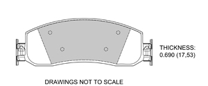 View Brake Pads with Plate #D1069B