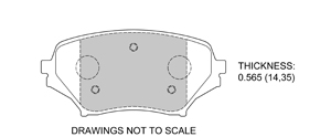 View Brake Pads with Plate #D1179