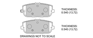 View Brake Pads with Plate #D1180