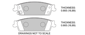 View Brake Pads with Plate #D1194