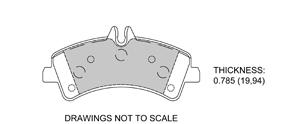 View Brake Pads with Plate #D1318