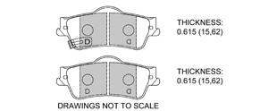 View Brake Pads with Plate #D1352