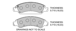View Brake Pads with Plate #D1367