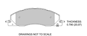 View Brake Pads with Plate #D1399