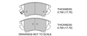View Brake Pads with Plate #D1404