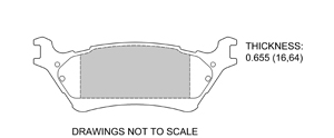 View Brake Pads with Plate #D1602