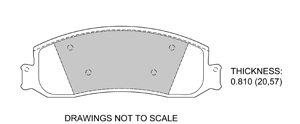 View Brake Pads with Plate #D1631