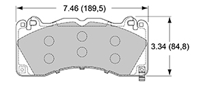 View Brake Pads with Plate #D1792