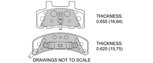 View Brake Pads with Plate #D369