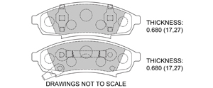 View Brake Pads with Plate #D376