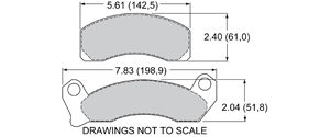 View Brake Pads with Plate #D431