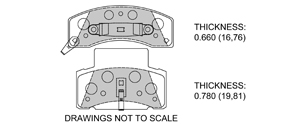 View Brake Pads with Plate #D459