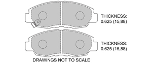 View Brake Pads with Plate #D465