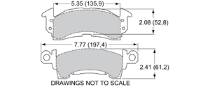 View Brake Pads with Plate #D52