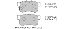 View Brake Pads with Plate #D537