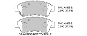 View Brake Pads with Plate #D562
