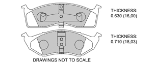 View Brake Pads with Plate #D591