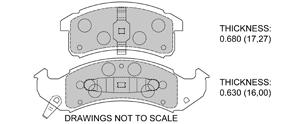 View Brake Pads with Plate #D623
